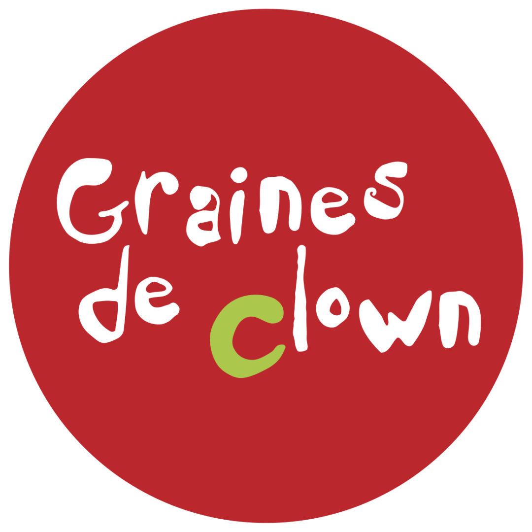 Badge graine de clown rouge vert jpg