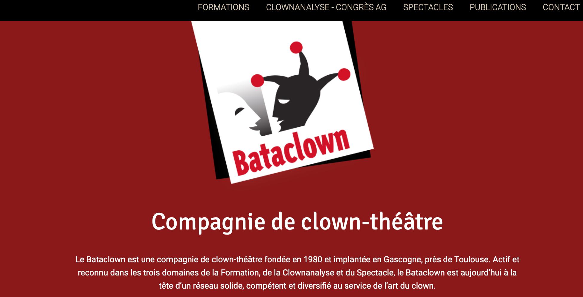Bataclown - formation, clownanalyse et spectacle