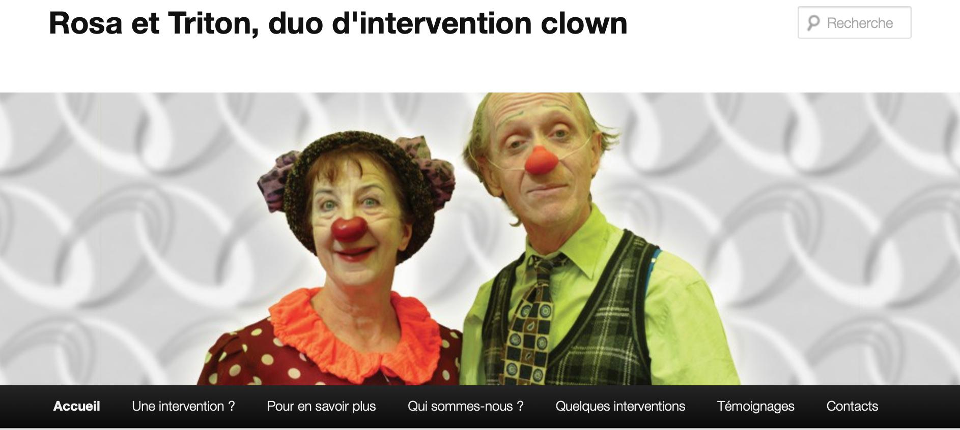 Rosa et Triton - duo d'intervention clown